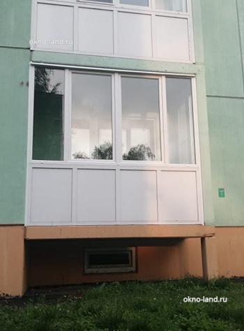 Остекление балкона в Приозерске, ул.Чапаева