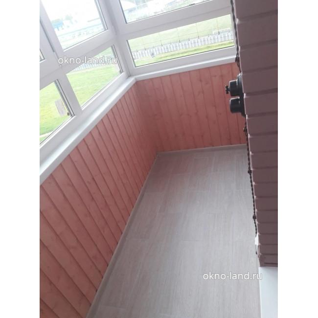 отделка балкона деревом  в ЖК Академ-Парк, Спб