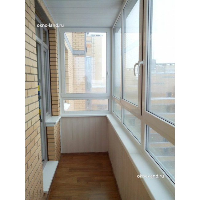 отделка панелями балкона в ЖК Академ-Парк, Спб