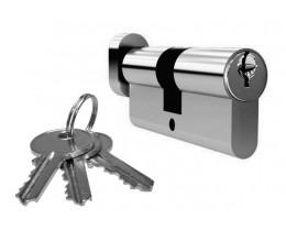 Межкомнатная дверь Цилиндр, 3 ключа, ключ-фиксатор в цвете золото, хром