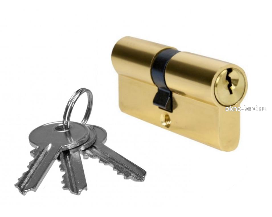 Межкомнатная дверь Цилиндр, 3 ключа, ключ-ключ в цвете золото, хром, бронза
