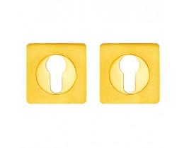 Межкомнатная дверь Накладка-квадро под цилиндр в цвете золото, хром