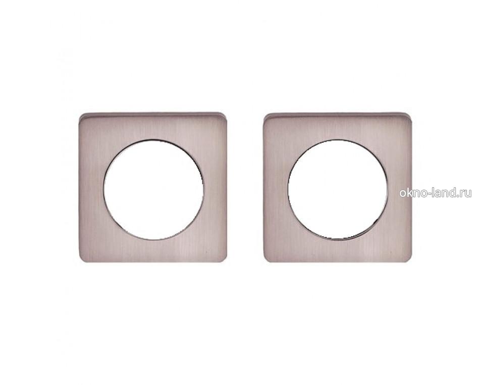Межкомнатная дверь Кольцо-квадро для круглой розетки в цвете хром, золото, бронза