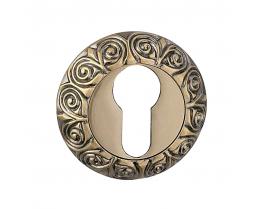 Межкомнатная дверь Накладка под цилиндр Modeno Vintage в цвете бронза, античная бронза, хром