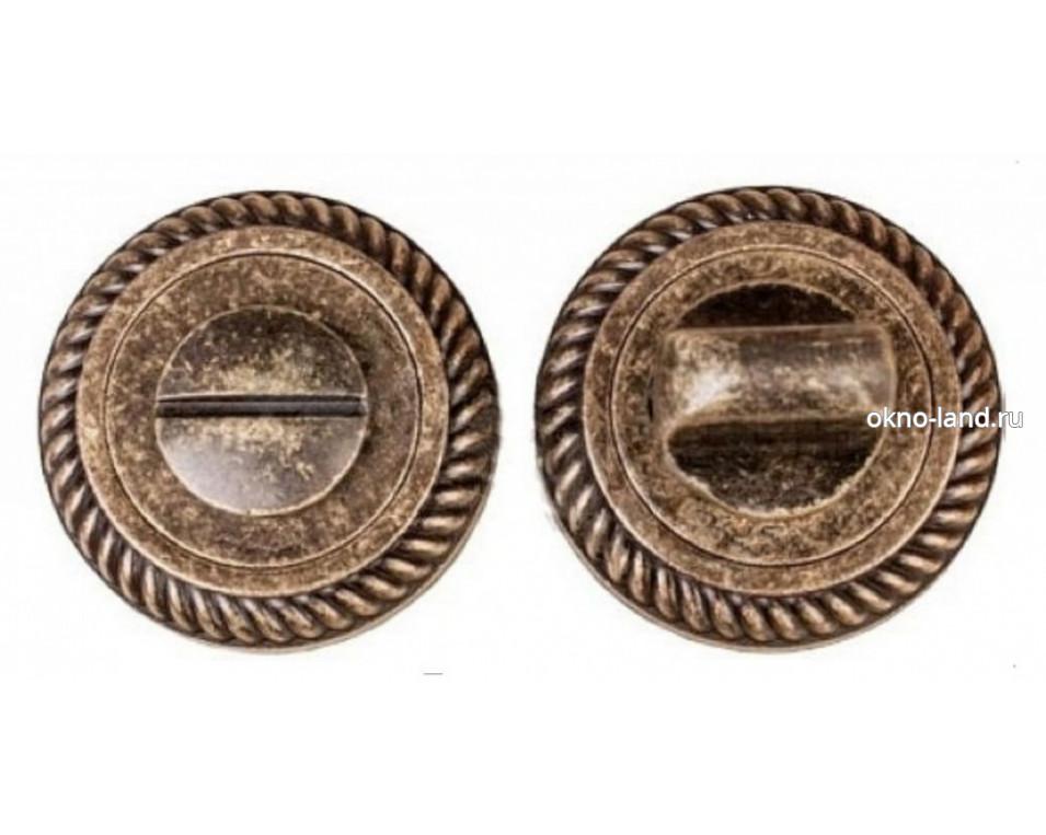 Межкомнатная дверь Завертка сантех. Modeno Vintage в цвете бронза, античная бронза, хром