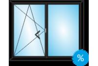 Окно ПВХ из профиля ВЕКА 1400Х1150